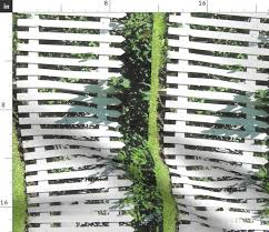 White Picket Fence Border L Spoonflower