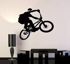 Amazon Com Wall Stickers Vinyl Decal Bmx Bike Bicycle Extreme Sport Decor For Living Room Z2103i Home Kitchen