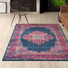 mercury row dorset navy blue area rug