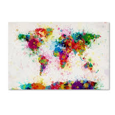 Style And Apply Watercolor World Map Wall Decal Reviews Wayfair