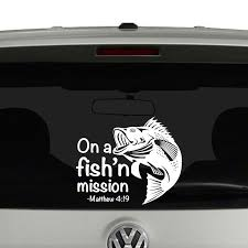 Other Hunting Accessories Sporting Goods Jesus Fish Vinyl Car Decal Sticker High Quality Fisher Of Men Choose Color