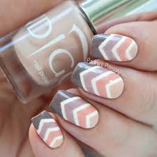 ombre chevron nail art with video