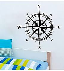 Boodecal Navigation Compass Wall Decals Stickers Decors For Living Room 24 Inches X 24 Inches Amazon Com