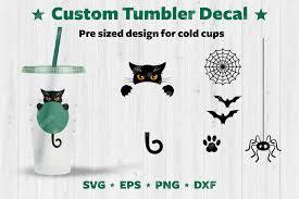 Halloween Custom Tumbler Decal Graphic By Natariis Studio Creative Fabrica