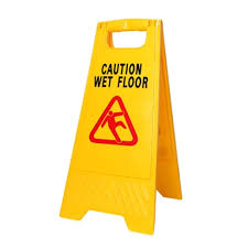 Mr Clean 24 Yellow Workplus Wet Floor Caution Sign Bunnings Warehouse