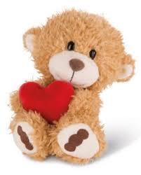 Nici Kuscheltier Bär hellbraun Herz verschiedene Größen Geschenk