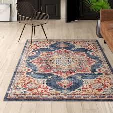 dulin oriental navy blue area rug