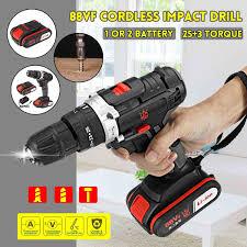 88VF Thuật Điện Tác Động Drill25 + 3 Gear Mini Máy Khoan Không Dây Máy  Khoan Điện Pin Lithium Sạc Dụng Cụ Điện|