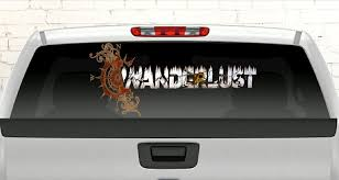 Wanderlust Car Decal Camo Car Decal Wanderlust Back Window Truck Decal Full Back Glass Truck Decal By Gypsyheart2decals On Camo Car Truck Decals Car Decals