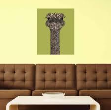Floral Ostrich Art Wall Sticker Decal By Valentina Harper