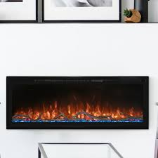 spectrum slimline electric fireplace