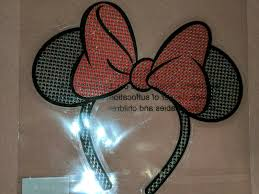 Disney Parks Minnie Mouse Big Red Bow Car Auto Window Sticker Decal Cling For Sale Online Ebay