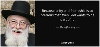 noah weinberg quote because unity and friendship is so precious
