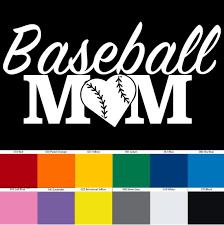 Baseball Mom Vinyl Decal Sticker Tablet Laptop Mug Water Etsy
