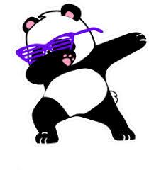 Dabbing Panda Sticker
