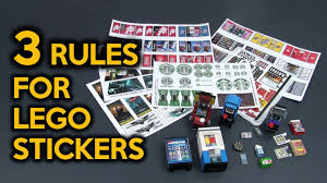NEW* 3 Rules for Custom LEGO Stickers for My LEGO City - YouTube
