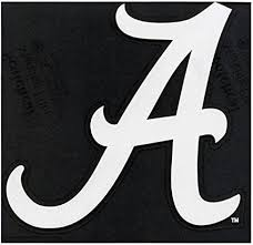 Amazon Com Alabama Crimson Tide 8x8 White Die Cut Auto Decal Sports Fan Automotive Decals Sports Outdoors