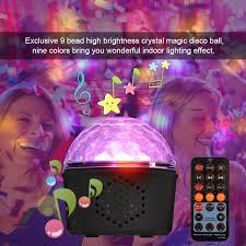 Sound Party Lights 9w Disco Ball Light With Remote Control 9 Colors Led Stage Light For Kids Bedroom Wedding Party Christmas Stage Lighting Effect Aliexpress