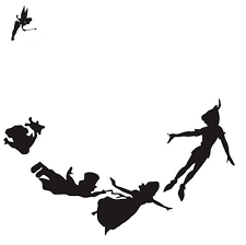 Peter Pan Neverland Decal Sticker Car Laptop Wall Pochoir Silhouette Peter Pan Dessin Silhouette De Fee