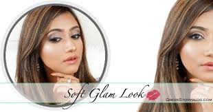 soft glam look full face makeup