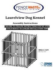 A448b70a E283 4648 B5aa Ba56e6bd5596 Pdf Laurelview Dog Kennel Assembly Instructions Failure To Follow Instructions Step By Step Could Result In Course Hero