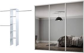 spacepro sliding wardrobe doors white
