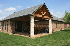 wood style open gable patio cover plans