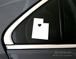 Heart In Utah Decal By Salt City Graphics