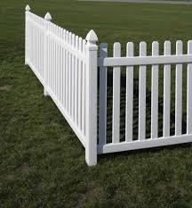 Rothbury Vinyl Picket Fence Straight Avinylfence Com