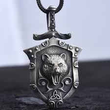 silver viking chain necklace