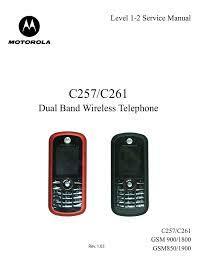 Motorola C257 Service manual