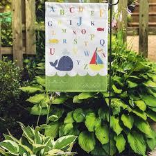 Shop Green Room Nursery Kids Alphabet Pink Wall Anchor Baby Bathroom Garden Flag Decorative Flag House Banner 12x18 Inch On Sale Overstock 31357724