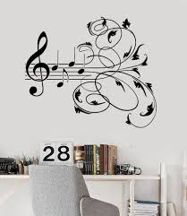 Vinyl Wall Decal Music Patterns Musical Room Decor Stickers Mural Ig3244 Music Room Decor Music Wall Decal Music Wall Art