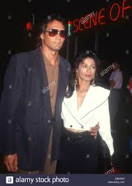 LOS ANGELES, CA - SEPTEMBER 7: Actor Jimmy Smits and wife actress Wanda De  Jesus attend Fourth Annual APLA Commitment to Life Benefit on September 7,  1990 at the Wiltern Theater in