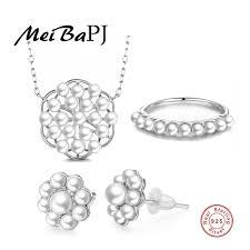 freshwater pearl jewelry set 925