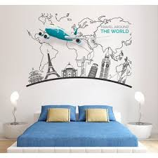 40 X70 World Traveling Removable Wall Sticker Home Decoration Diy Art Decal