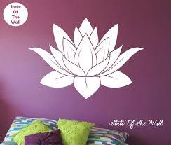 Lotus Flower Wall Decal Vinyl Sticker Art Decor Bedroom Design Etsy Flower Wall Decals Sticker Art Vinyl Wall Decals