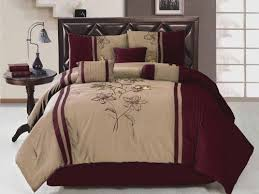 7 pcs embroidery flower comforter set