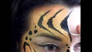 tiger eye makeup face painting design