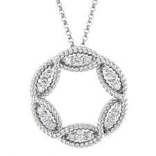 barocco large white gold diamond