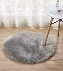fluffy round rug faux sheepskin rugs