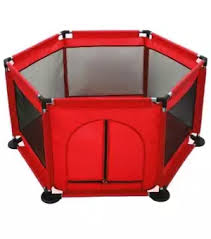 Keimav Playpen For Baby Kids 6 Panel Portable Baby Playard Fence Red Indoors Or Outdoors Child Playpen Fence With Playmat Carry Case Breathable Mesh For Babies Toddler Newborn Infant Lazada