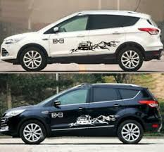 Graphic Cross Country Mountain Sticker Decal Fit Ford Escape Explorer Edge 2 Pcs Ebay