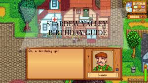 stardew valley birthday guide gifts