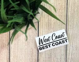 West Coast Decal Etsy