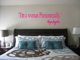 Maya Angelou I M A Woman Phenomenally Wall Quote Sticker Fun Decals For Cars Vinyl Decals Wall Quote Decals