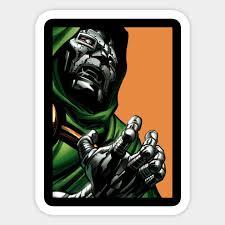Dr Doom Infinity Gauntlet Sticker Teepublic