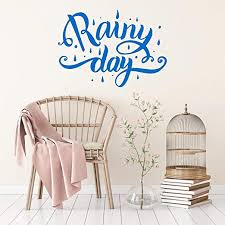 com littledollz wall decal wall quote rainy day wall