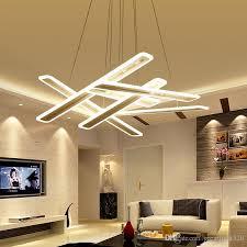 led strips overlap pendant lights
