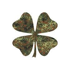 Best Price Four Leaf Clover Shamrock Vinyl Decal Sticker 12 X 12 Flecktarn Camo Reviews 6543453nhgtf